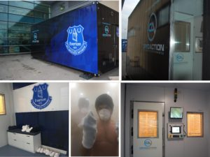 Everton Football Club take delivery of new whole body cryotherapy chamber