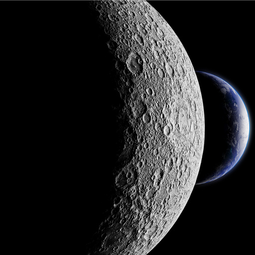 At minus 160 degrees, the dark side of the Moon image by Dotted Yeti (via Shutterstock).