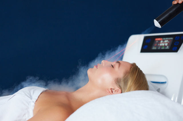 Cryotherapy equipment image by Jacob Lund (via Shutterstock).