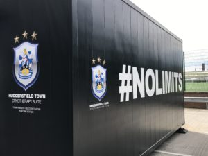 Cryotherapy chamber at Huddersfield Town