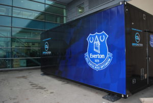 CryoAction Cryotherapy unit at Everton FC