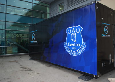 CryoAction transportable cryotherapy unit At Everton FC