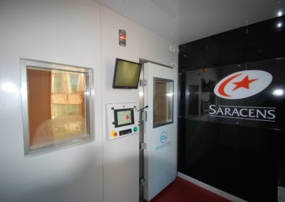 CryoAction installed a cryotherapy chamber at Saracens