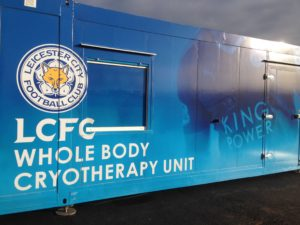 CryoAction installed a cryotherapy chamber at Leicester City