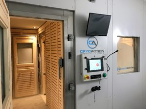 CryoAction Cryotherapy Chamber at Arsenal FC