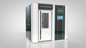 CryoAction CryoCube single person cryotherapy unit.